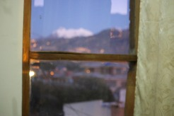 Illimani from the window of their home