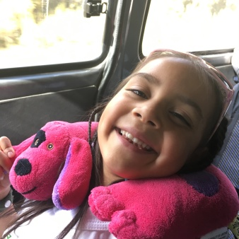 Aliyah riding to La Paz