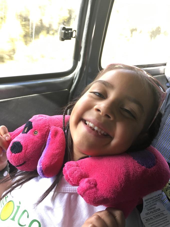Aliyah riding to La Paz