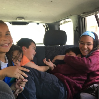 We drove around with a few of Richard's cousin's kids and our kids were thrilled to hang out with them