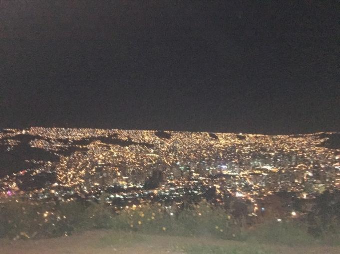 La Paz at night