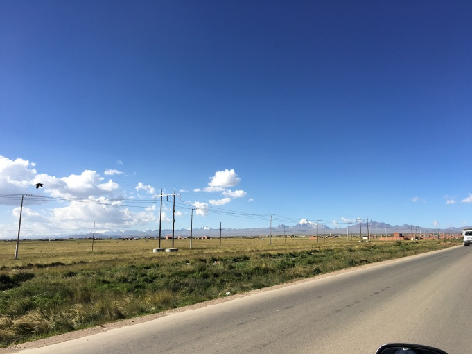Driving from El Alto to Viacha