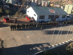 Bolivian Military from the teleferico